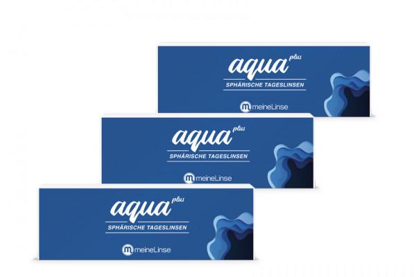 aqua plus SPHÄRISCHE TAGESLINSEN - 3 x 30er Box
