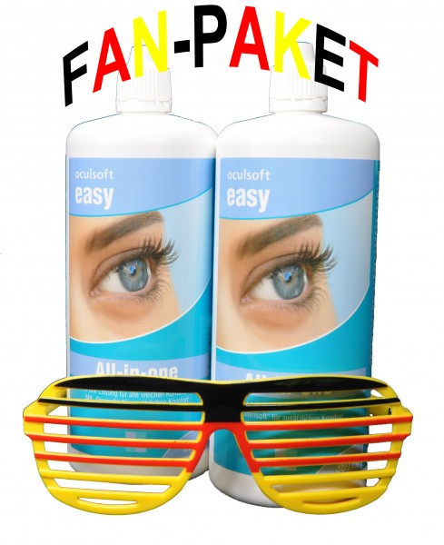 oculsoft easy - All-in-one - 2 x 380 ml + FAN BRILLE